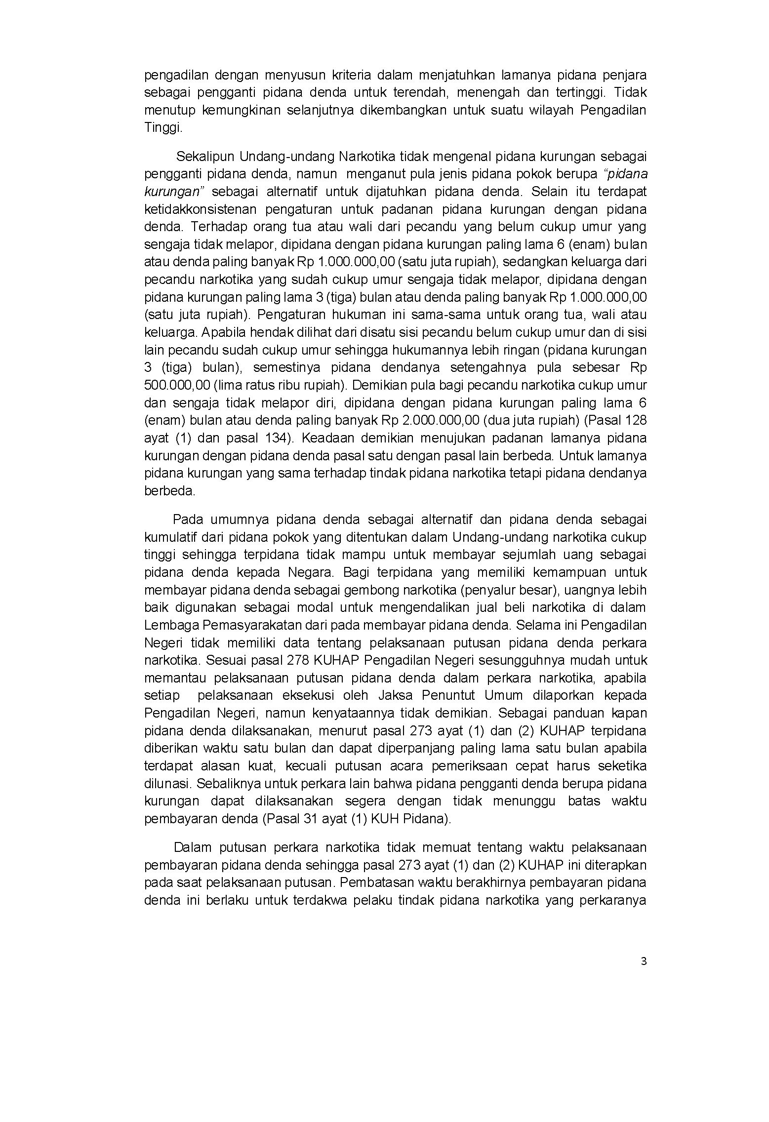 Direktorat Jenderal Badan Peradilan Umum Artikel Hukum